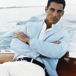 50代メンズファッションコーディネート春夏:白パンツ