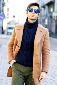 ジャケットやコートによく合います