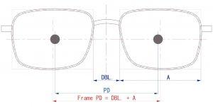 瞳孔間距離(PD)とフレームPD(FPD)