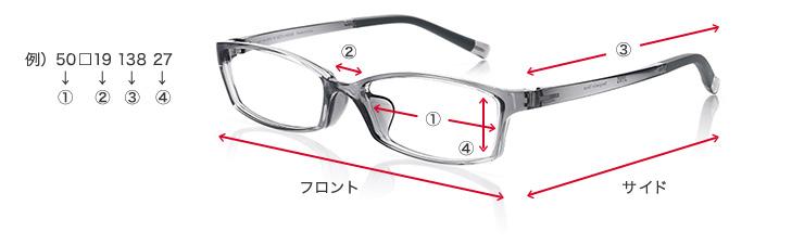 メガネサイズ表記の見方