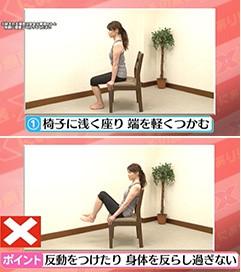 大腰筋エクササイズ(1) 3秒両脚アップ